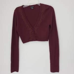 Guess Jeans Burgandy Cropped sweater size M